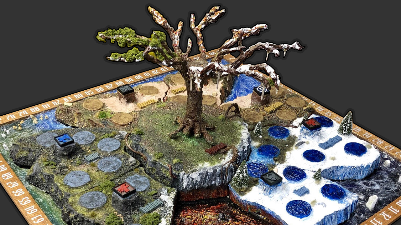 Blood Rage 3d Board