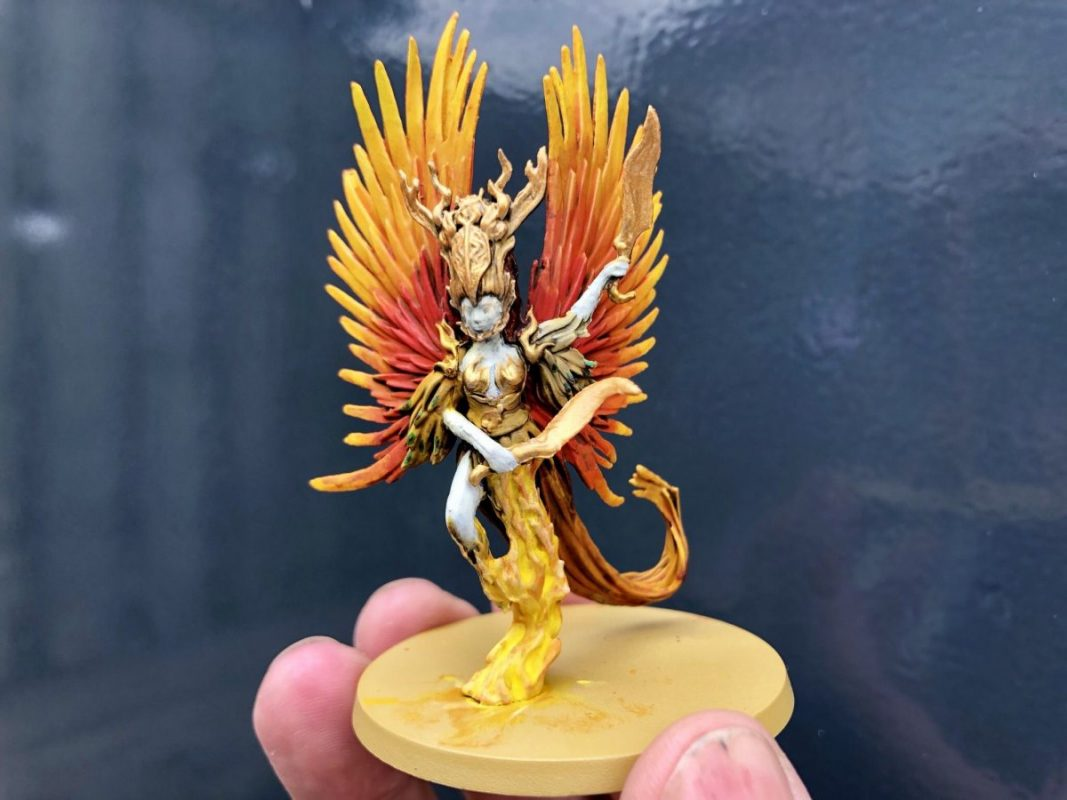Rising sun Phoenix painted