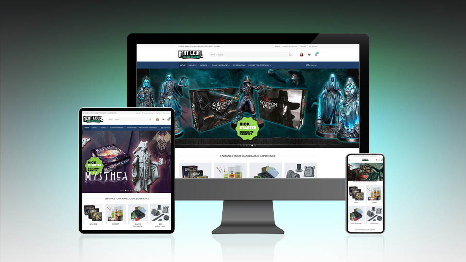 Next Level Board Gaming new website