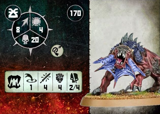 Warcry Flesh Hound Blue Card