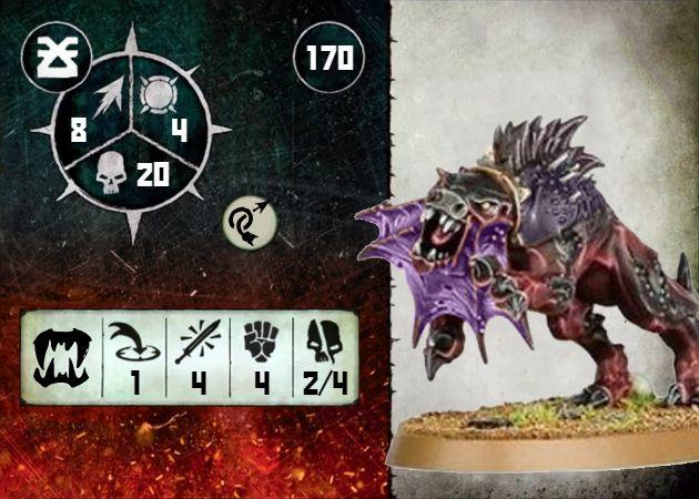 Warcry Flesh Hound Purple Card