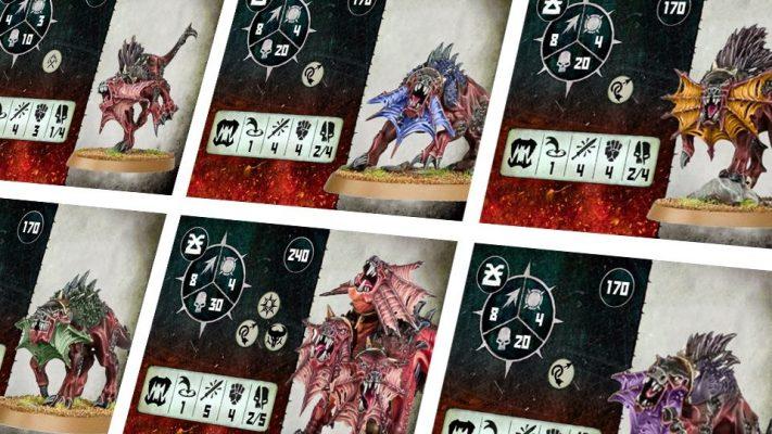 Warcry Flesh Hound Custom Cards